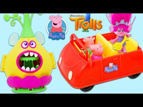 Peppa Pig and George Visit Trolls Poppy's Critter Camp!