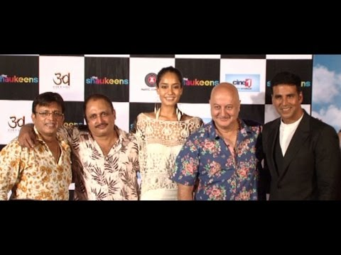 Akshay Kumar, Lisa Haydon, Anupam Kher At Trailer Launch Of Movie The Shaukeens