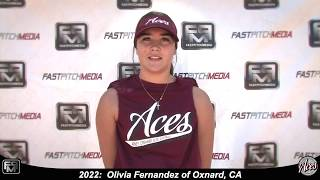 2022 Olivia Fernandez Athletic Outfielder Softball Skills Video - Aces 18 Gold
