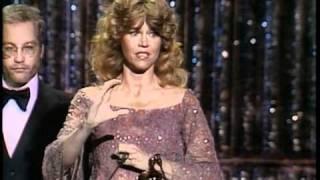 Jane Fonda winning an Oscar® for