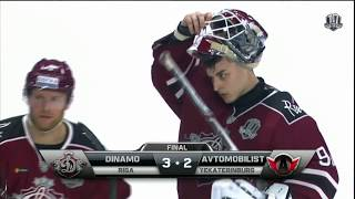 Avtomobilist 2 Dinamo Riga 3 SO, 19 November 2017 Highlights
