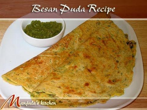 Besan (Gram Flour) Puda (Dosa) Recipe by Manjula