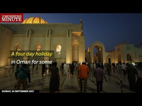 While most residents in Oman were enjoying 3-day weekend, some are enjoying 4-days off