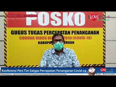 Konferensi Pers Gugus Tugas Covid19 Kabupaten Pasuruan : Jumlah Pasien Positif Covid19 Bertambah Menjadi 10 Orang