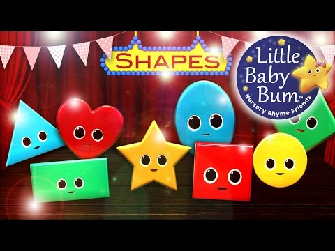 Shapes Song   Learn with Little Baby Bum   Nursery Rhymes for Babies   ABCs and 123s
