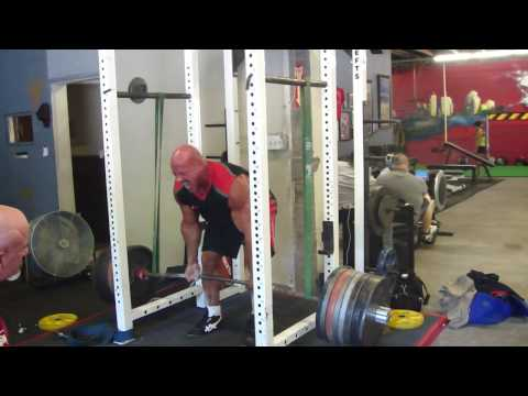 Stan Efferding 765 for 2 Reverse Band Deadlift