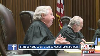 Kansas Supreme Court justices listened to oral arguments as to whether the state is spending enough money on public ...