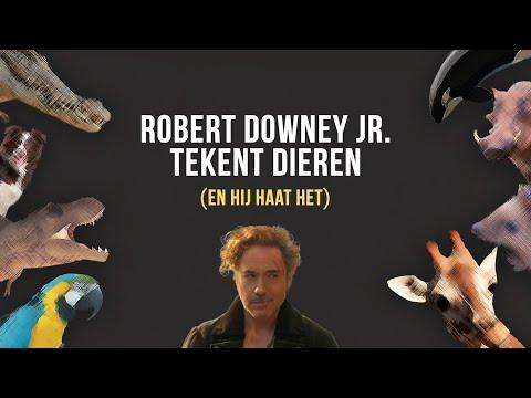 ROBERT DOWNEY JR. tekent dieren (EN HIJ HAAT HET)