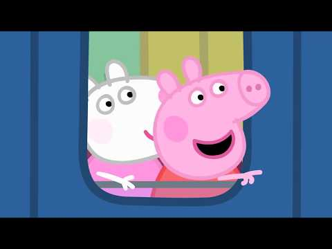 Peppa Pig Full Episodes | Peppa Pig's Train Ride | Cartoons for Children