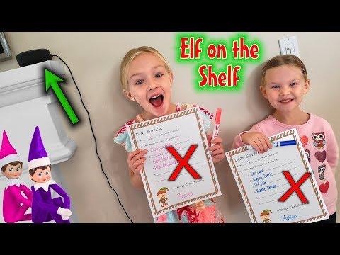 Elf on the Shelf - Finding Their Top Secret Christmas Wish Lists! (ALexa)
