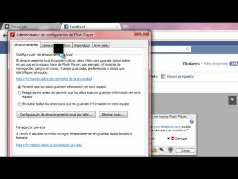 como activar la webcam el el facebook.