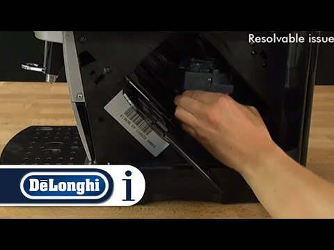 How to Reset the Infuser to Insert the Drip Tray in Your De'Longhi ESAM Coffee Machine