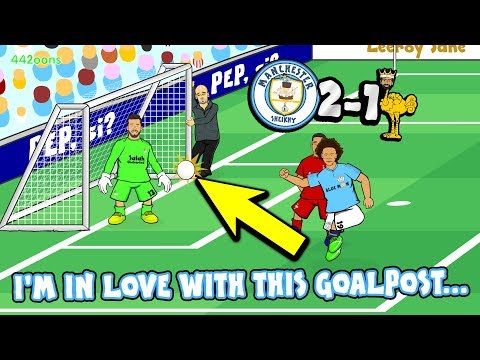 MAN CITY 2-1 LIVERPOOL! 💙I'M IN LOVE WITH THESE GOALPOSTS!💙 (Goals Highlights Sane Aguero Goal Line)