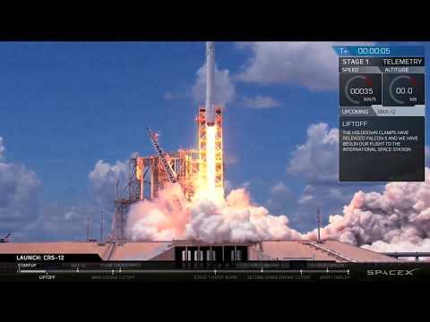 CRS-12 Launch Webcast © SpaceX