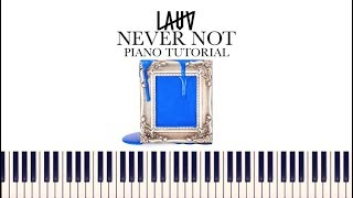Lauv - Never Not (Piano Tutorial + Sheets)