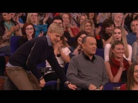 Tom Hanks - The Hollywood legend has been honored with many awards, and Ellen had a special one for him today.