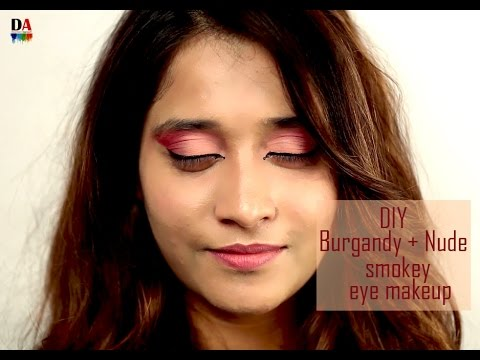 Nude smokey eye makeup tutorial