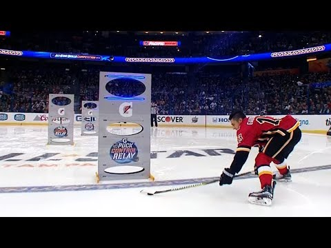 2018 NHL All-Star Skills Competition: Puck Control Relay (видео)