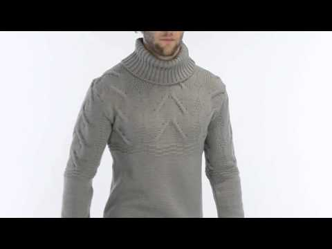 Peregrine by J.G. Glover Turtleneck Cable Sweater - Merino Wool (For Men)