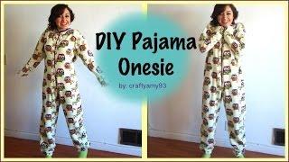 DIY Pajama Onesie! - YouTube
