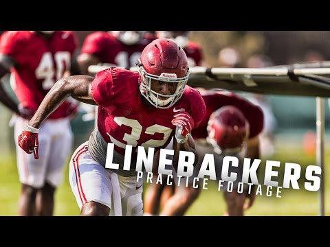 Watch Alabama linebackers run drills with Jeremy Pruitt during spring practice