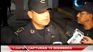 19 Miembros De La MS Fueron Capturados En Cuscatancingo.