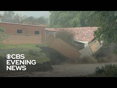 Heavy rains prompt dangerous mudslides in California