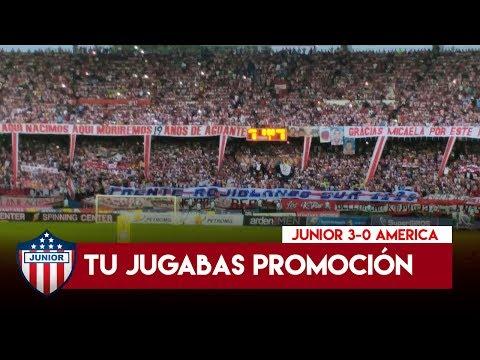Alienta la Sur, ROJO DECIME QUE SE SIENTE - Junior 3-0 America 2017 - Frente Rojiblanco Sur - Junior de Barranquilla - Colombia - América del Sur