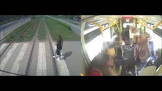 Ludzie jak worki kartofli. Nagranie z tramwaju we Wrocławiu
