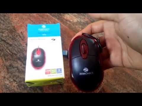 Zebronics MS M05 Plus Optical USB Mouse Unboxing & Demo