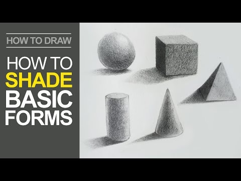 How to Shade Basic Forms - Pencil Tutorial
