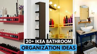 20 Brilliant IKEA Bathroom Organization Ideas