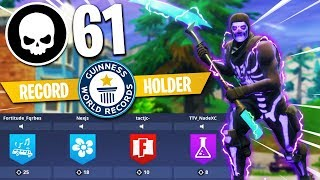 61 KILLS WORLD RECORD - Breaking FaZe Tfue + Cloakzy Squads Record - Fortnite Battle Royale Gameplay