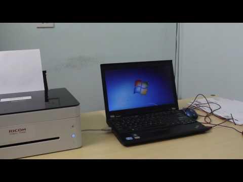 Video hướng dẫn cài đặt máy in ricoh SP 150SU