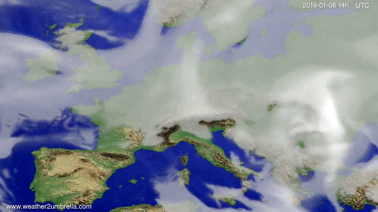 Cloud forecast Europe 2019-01-02