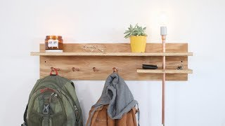 DIY Floating Shelf from Plywood and Copper | Modern Builds