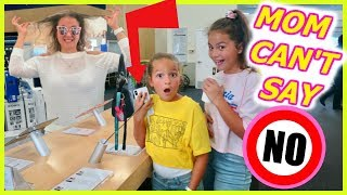 MOM CAN'T SAY NO !!    KIDS IN CONTROL FOR 24 HOURS   SISTER FOREVER