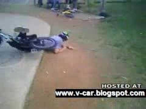 Bike BackFlip Mishap