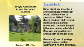 SEYYID ABDULHAKIM ARVASI HAZRETLERİ 3 (YOLUMUZU AYDINLATANLAR)