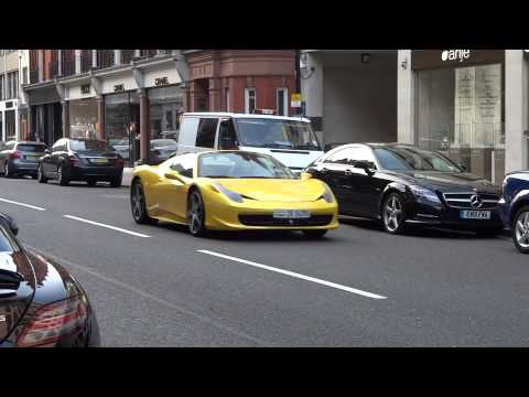 Kuwaiti girl in yellow Ferrari gets egged in London