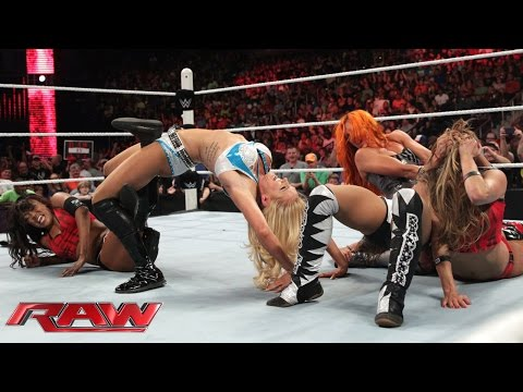 NXT Divas emerge to challenge Team Bella: Raw, July 13, 2015 (видео)