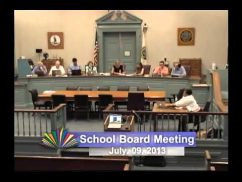 School Board Meeting - July 9, 2013
