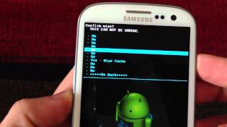 How to do a Wipe Data Factory Reset & Wipe Cache in Clockworkm...