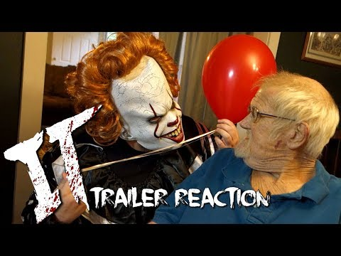 ANGRY GRANDPA REACTS TO IT TRAILER!! (PRANK)
