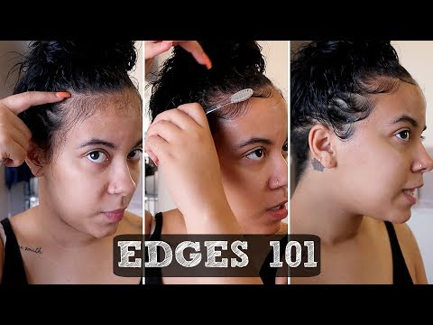HOW TO LAY YOUR EDGES | QUICK & EASY TUTORIAL 💛 (видео)