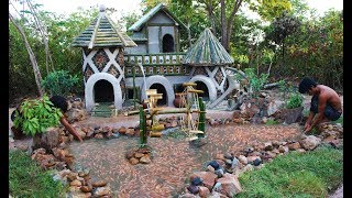 Build Dog House For Abandoned Puppies And Fish Pond For Red Fish