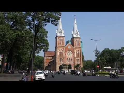 Ho Chi Minh City, Vietnam (Saigon) - Part 1 - Notre Dame Cathedral, City Hall, Central Post Office