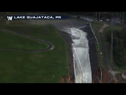 У Пуерто-Ріко вода прориває греблю, 70 000 чоловік будуть евакуювати