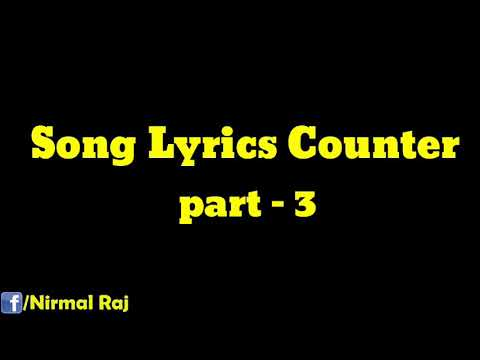 Song Lyrics Counters Part 3 | Total Damage | Subscribe |