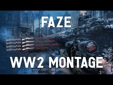 FaZe Dirty's First WWII Montage (видео)
